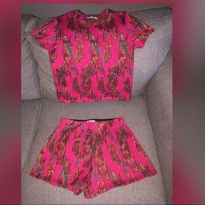 Zara printed matching short set